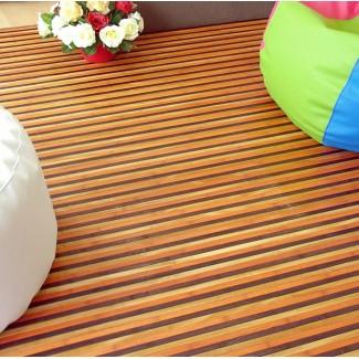 Alfombra de bambú multicolor 'Spring'