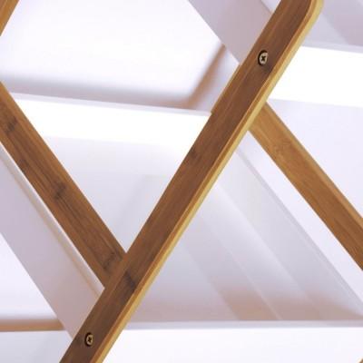 Estantería bambú White 4 estantes 72 cm