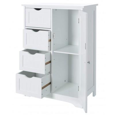 Mueble de ordenación 4 cajones+puerta Whitey 81x55 cm