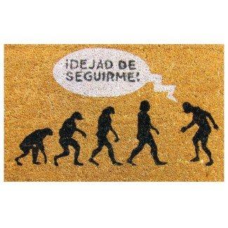 Felpudo Evolución - Dejad de seguirme 60x40 cm