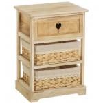 Mueble cajonera 2 cestas y cajón Countryside 40x58 cm