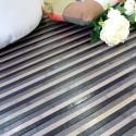 Alfombra de bambú rayas Spring gris varias medidas