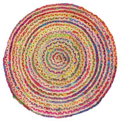 Alfombra redonda yute y algodón Bangali 90 cm