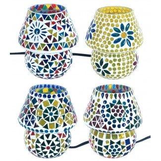 Lámpara de mesa de cristal Nepal mini varios colores