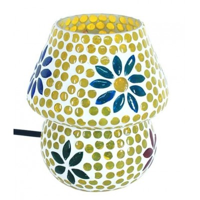 Lámpara de mesa de cristal mini varios colores