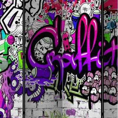 Biombo de 5 hojas Graffiti 225x172 cm