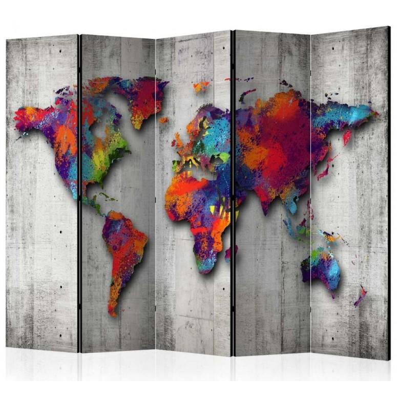 Biombo de 5 hojas Color World 225x172 cm
