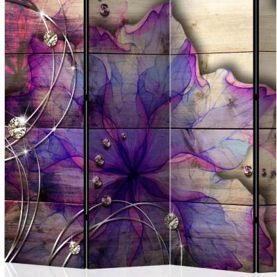 Biombo de 5 hojas Sueño en Púrpura 225x172 cm