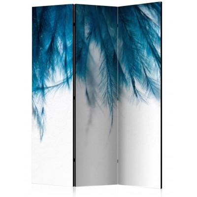 Biombo de 3 hojas Blue Feather 135x172 cm
