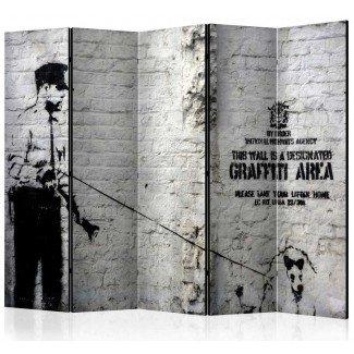 Biombo de 5 hojas Graffiti Area 225x172 cm
