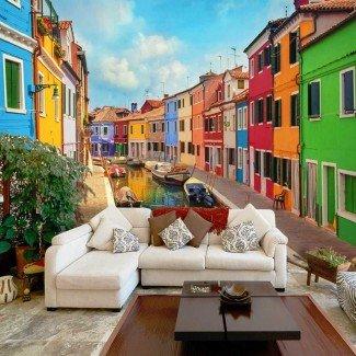 Fotomural para pared gran formato Canal de Venecia