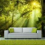 Fotomural para pared gran formato Green Woods