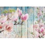 Fotomural para pared gran formato Flowers & Wood