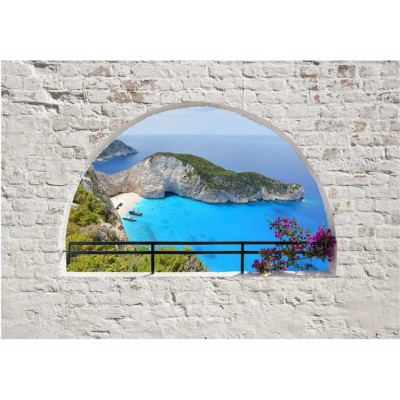 Fotomural para pared gran formato Ventana a Zakynthos