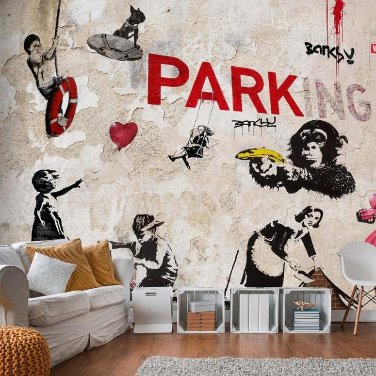 Fotomural para pared gran formato Banksy Graffiti