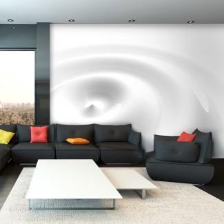Fotomural para pared gran formato Remolino Blanco