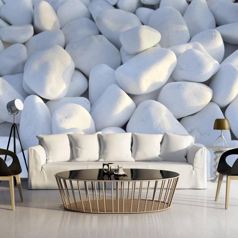 Fotomural para pared gran formato White Stones