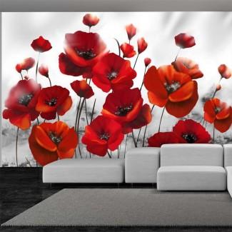 Fotomural para pared gran formato Amapolas