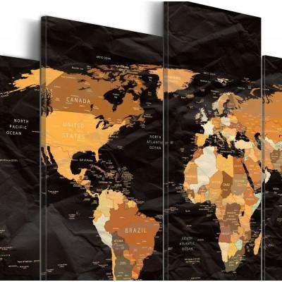 Cuadro impreso 5 piezas 200x100 Black Seas