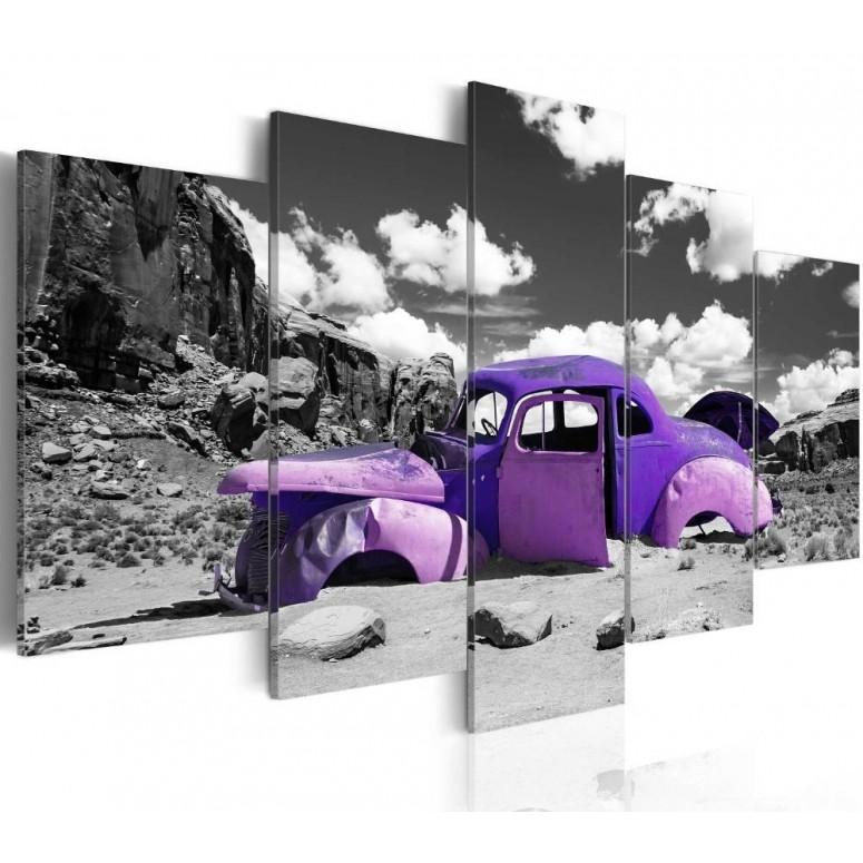 Cuadro impreso 5 piezas 200x100 Pink Desert