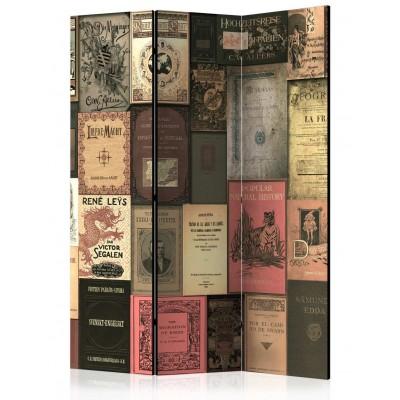Biombo de 3 hojas Libros Vintage 135x172 cm