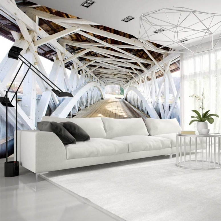 Fotomural para pared gran formato White Bridge