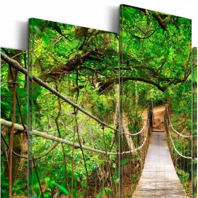 Cuadro impreso 5 piezas 200x100 Paseo en el bosque