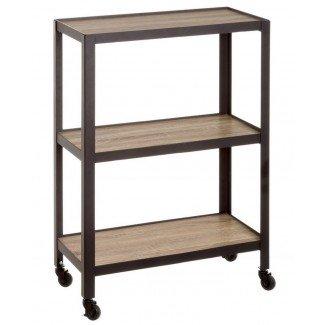 Estantería madera y metal industrial 60x85 cm