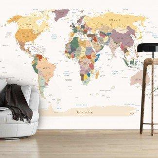 Fotomural para pared gran formato School Map