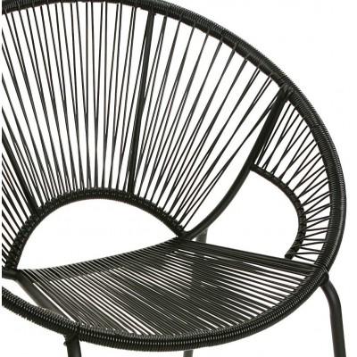 Gran sillón negro Cancún 77x72 cm