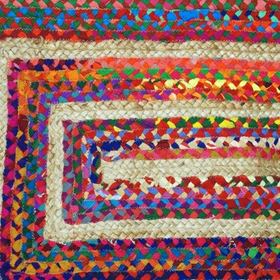 Alfombra yute y algodón Bangali dos tamaños