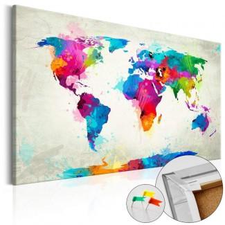 Tablero de corcho impreso Explosión de Color