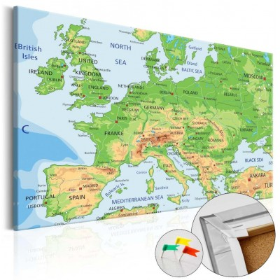 Tablero de corcho impreso Europa