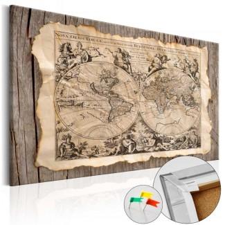 Tablero de corcho impreso Pergamino Viejo