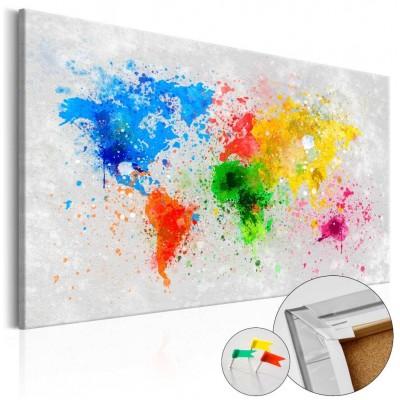 Tablero de corcho impreso Mundo Expresionista