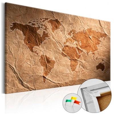Tablero de corcho impreso Mundo de Papel