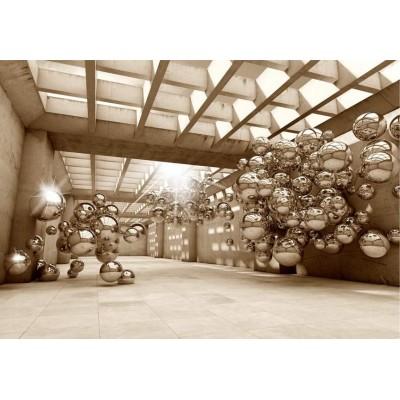Fotomural para pared gran formato Steel Spheres