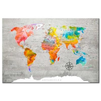 Tablero de corcho decorativo Mundo Colorista