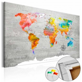 Tablero de corcho decorativo Mundo Colorista