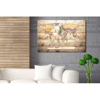 Tablero de corcho decorativo Océanos de tablas