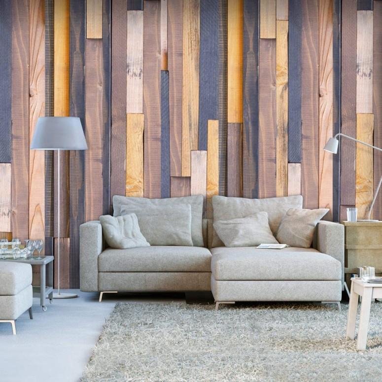 Papel pintado Alianzas de madera