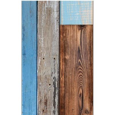 Papel pintado Madera Azul