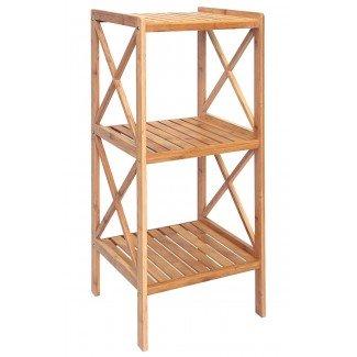 Estantería de bambú de 3 baldas 85 cm